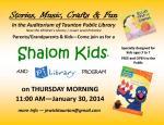2014 01 30 Shalom Kids at Taunton Library Ella and Grover